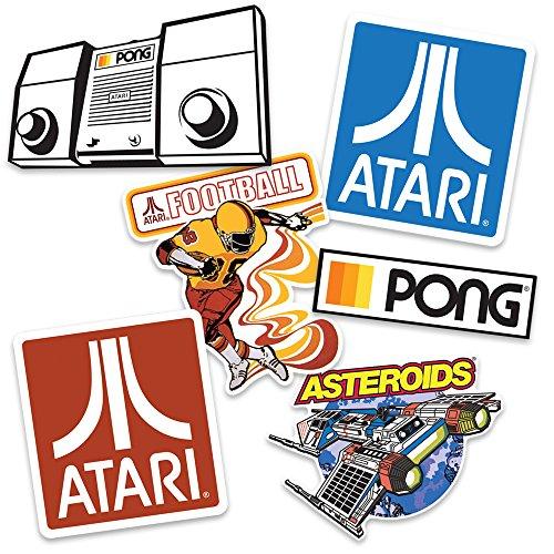 Atari Classic Videojuegos coleccionables pegatinas con asteroides, tenis y fútbol