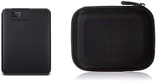 WD Elements Portable, Externe Festplatte   2 TB   USB 3.0   WDBU6Y0020BBK WESN & Amazon Basics Festplattentasche, schwarz