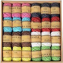 Colorido com 20 rolos de corda de juta trançada da Vosarea com corda, faça você mesmo, corda, etiqueta, corda, decoração d...