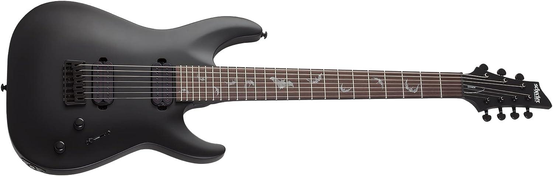 Schecter Damien-7 SBK Electric Brand new Max 56% OFF Satin Black Guitar -