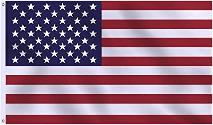 USA STARS AND STRIPES AMERICA MINI POLYESTER US STATE FLAG BANNER 3 X 5 INCHES