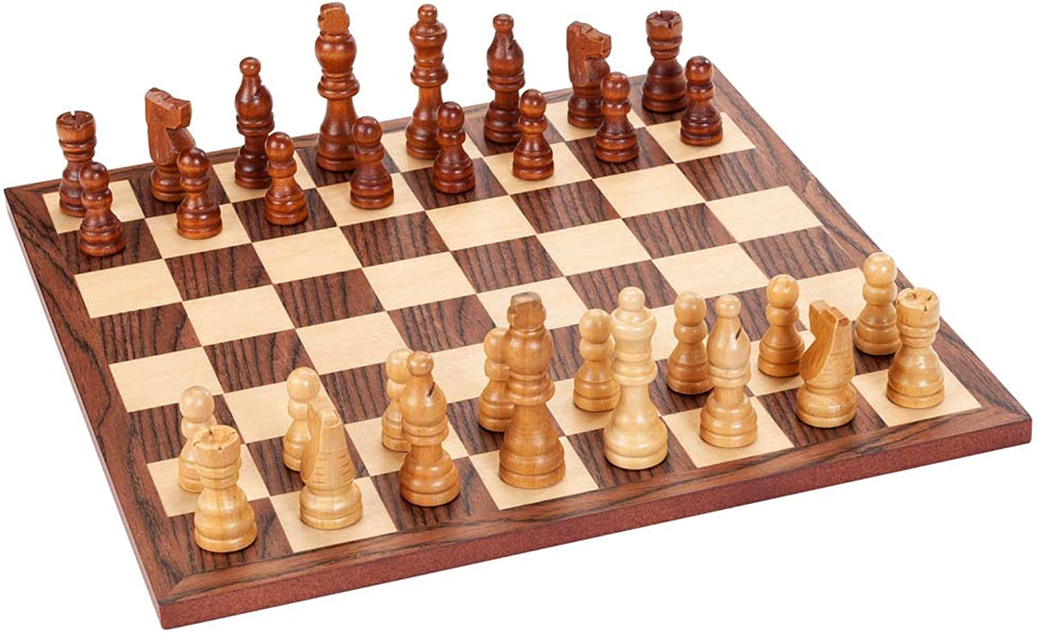 Wood Expressions Classic Chess Set  Walnut Wood Board 12 In