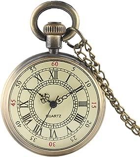 Double Face Display Fallout 76 Vault 111 Theme Quartz Pocket Watch Round Dial Analog Pendant Retro Bronze Chain Necklace Clocks
