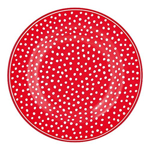 Greengate-Small Plate Assiette Motif Pois Rouge 15 cm