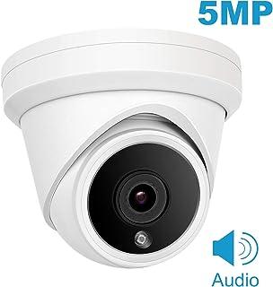 (Hikvision Compatible) Cámara domo IP de 5MP Anpviz POE cámara de seguridad IP66 impermeable para interiores y exteriores con ángulo de visión de 2.8 mm visión nocturna por infrarrojos de 98 pies