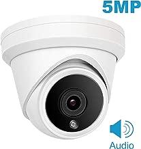 (Hikvision Compatible) Cámara domo IP de 5MP Anpviz POE, cámara de seguridad IP66 impermeable para interiores y exteriores con ángulo de visión de 2.8 mm, visión nocturna por infrarrojos de 98 pies