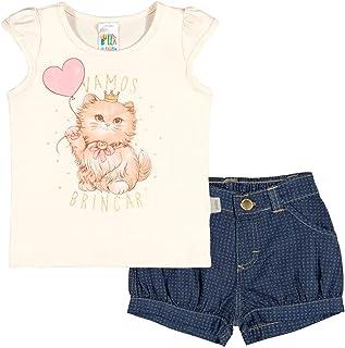 Conjunto Natural Bebê Menina Cotton 36619-68