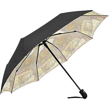Africa Art Wild Animals Digital Collage Windproof Automatic Tri-Fold Foldable Umbrella Cartoon UV Protection Travel Unbreakable Compact Portable Sun Rain Umbrella