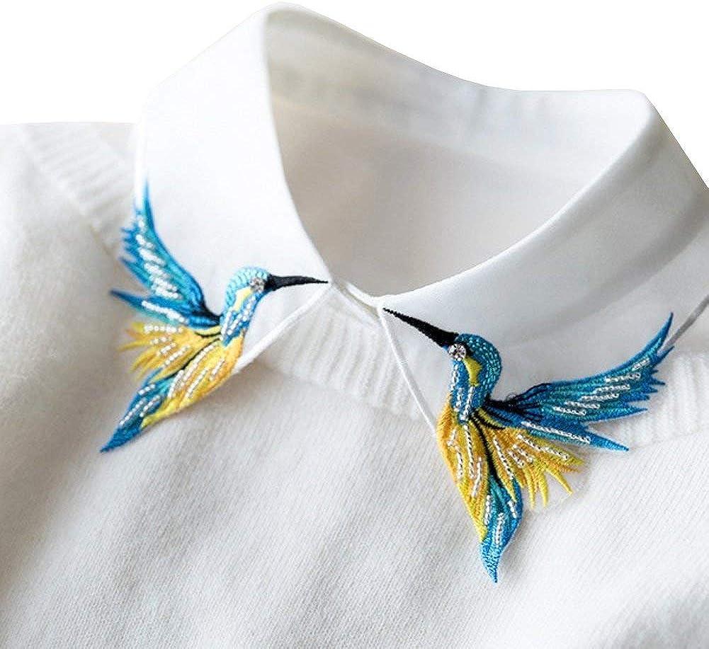 Vpang Stylish Detachable Fake Collar Shirt Beads Half San Francisco Mail order Mall Bir Blouse