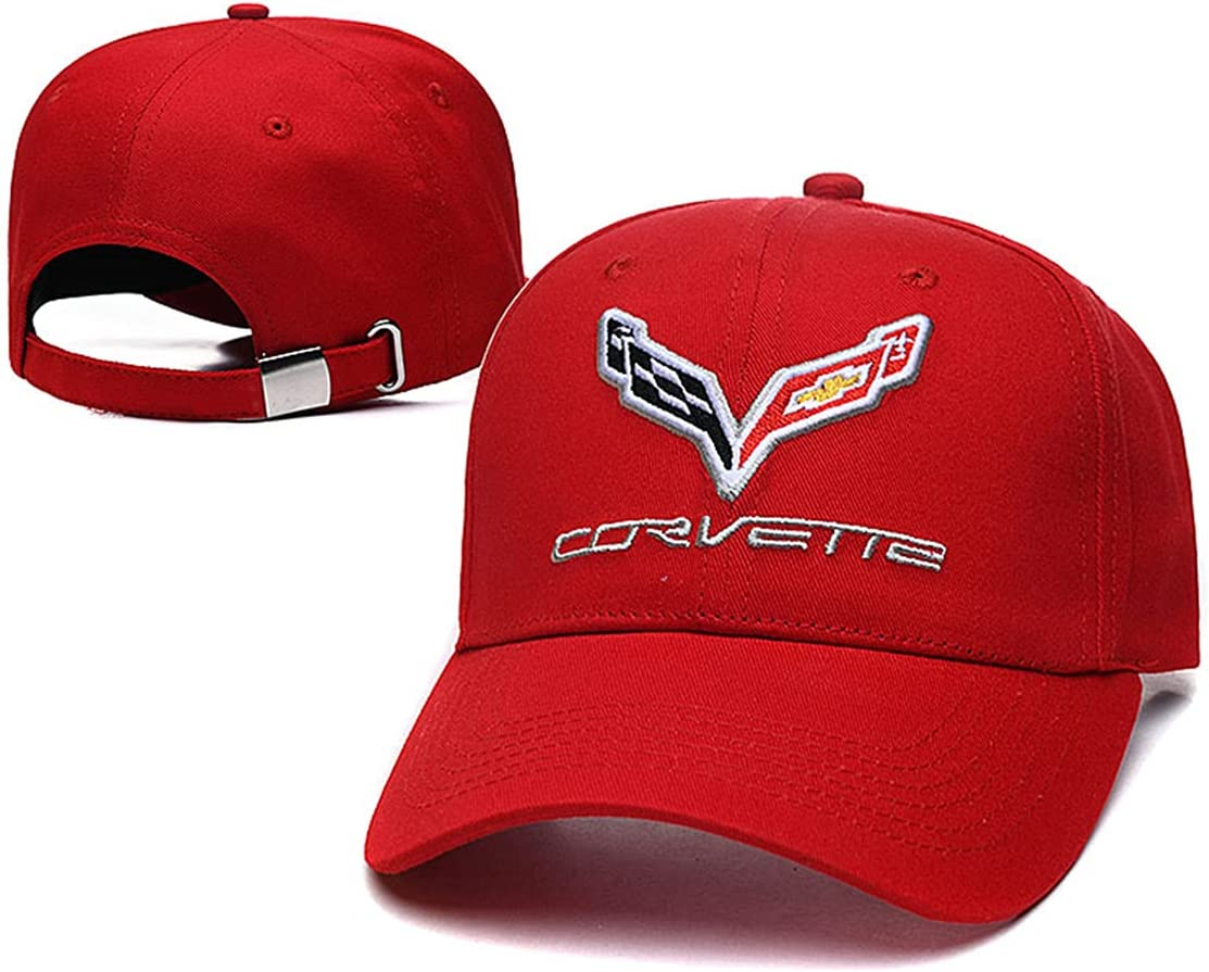 Yoursport Baseball Cap,Unisex Adjustable Hat Travel Cap for Man,Women - Fit Corvette Accessories (Bright red)