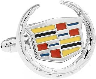 Promotioneer Men's Car Logo Symbol Fashion Shirt Cufflinks with Gift Box