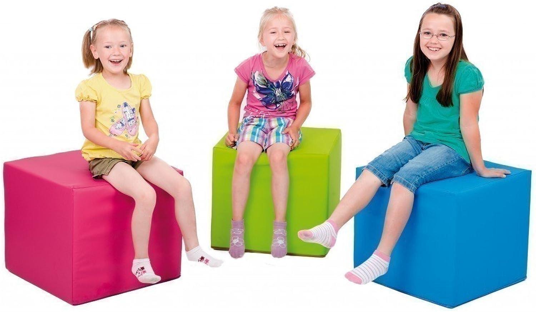 1 x Pnz Spiel- und Sitzwürfel 'hellgrün' - Kantenlnge  45 cm - Hhe  50 cm