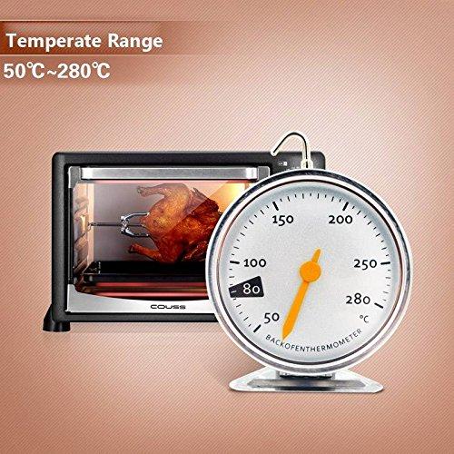 Bargain World Appeso in acciaio inox fornello Forno strumenti temperatura termometro calibro di cottura di cottura