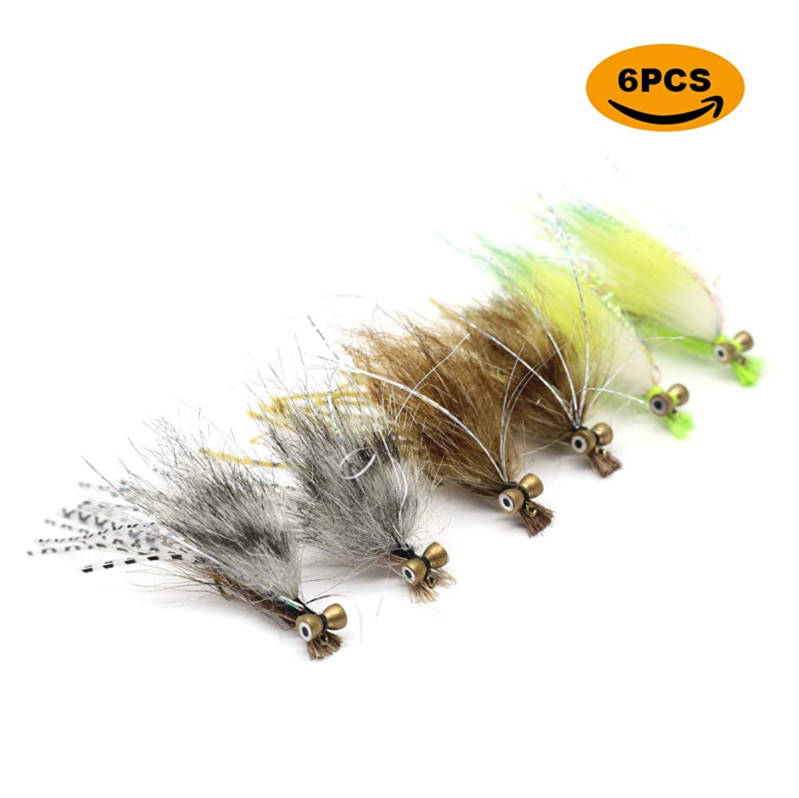 YZD Fly Fishing Big Trout Flies Kit Top 5 Steelhead Flies Flyfishing Gear Premium Wet Dry Flies Trout Lures Streamer Nymph Emerger Fishing Assorted Trout Flies Bass Salmon