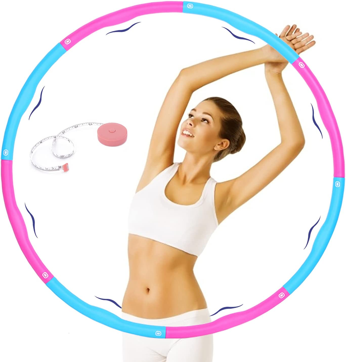 Beezouseny Holahoops For Fitness 2.6 Weighted lbs Massage Exerc Popular standard Discount mail order