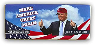 MAKE AMERICA GREAT AGAIN Milk Chocolate Bar, Amuse Mints, pack of 4 (1.75oz each)