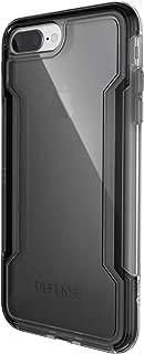 X-Doria iPhone 8 Plus & iPhone 7 Plus Case, Defense Clear - Military Grade Drop Protection, Clear Protective Case for iPhone 8 Plus & 7 Plus (Black)