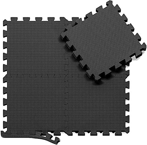 Skago Schutzmatten Set Puzzlematte Bodenschutz Matte - 18 Puzzle Bodenschutzmatten Unterlegmatte | Fitnessmatt