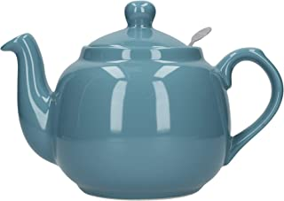 Globe London Pottery 4 Cup Aqua Blue Filter Teapot