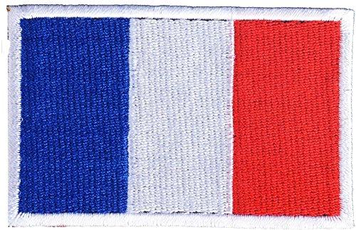 DCCN Airsoft Frankreich Patches Klett Militär Aufkleber Abzeichen Klettbänder für Rucksäcke - Frankreich Flagge