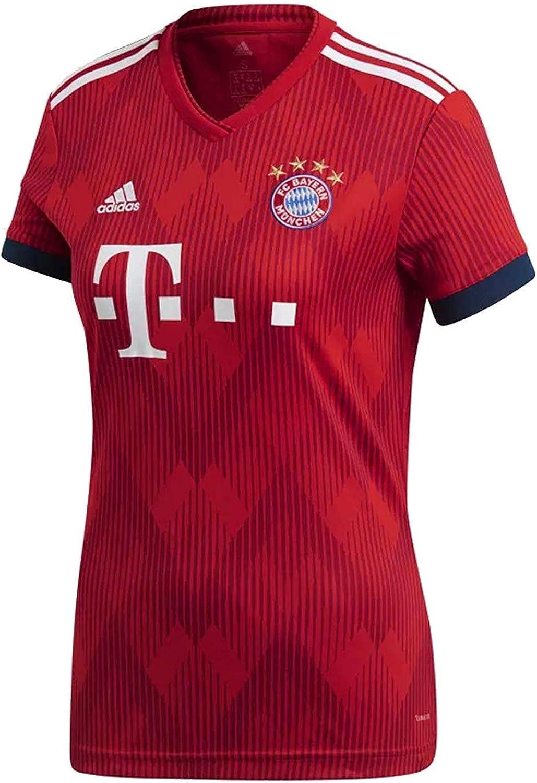 Amazon.com: adidas FC Bayern Home Women's Soccer Jersey - 2018/19 ...