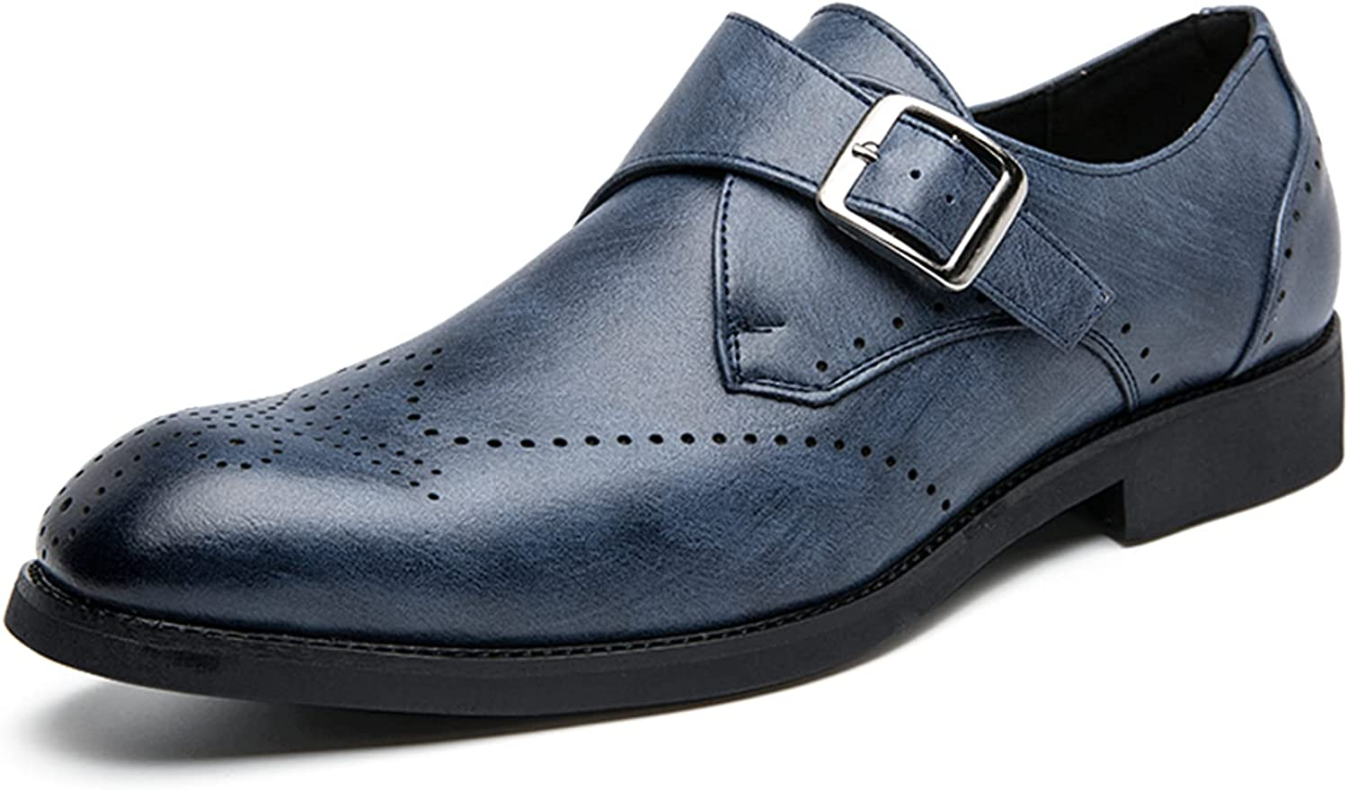 Zhousensen Men's Oxford Leather Shoes Business Leather Shoes Breathable Wedding Dress Casual Shoes