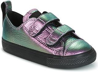 88edba73dc5bb Converse Chuck Taylor All Star 2V Violet Cuir Bébé Formateurs Chaussures