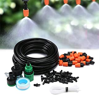 Innlife Outdoor Misting Cooling System Kit, Drip Irrigation Watering Kits, Great for Summer Mister Cooling and Plants Wate...