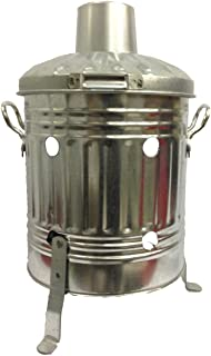 CrazyGadget® Mini Garden Incinerator Small Fire Bin Galvanised 15 Litre 15L Burning Wood Leaves Paper by CrazyGadget