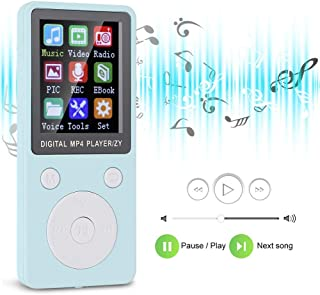 MP3 Player, Multi-Language 32G Memory Card with Mutual Support, Music Player, 8G for Music Lovers,(Blue)