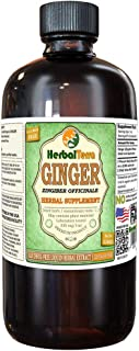 Ginger (Zingiber Officinale) Glycerite, Organic Dried Root Alcohol-Free Liquid Extract (Brand Name: HerbalTerra, Proudly Made in USA) 32 fl.oz (0.95 l)