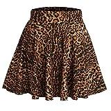 cunlin Plus Size Mini Skirts for Women Kawaii Plaid Skirt Dress Aesthetic School E-Girl Clothes Mini Leopard Print 10 M