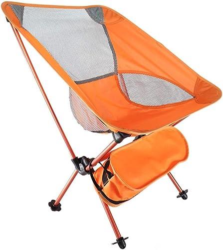 AmzGxp Chaises Pliantes Extérieurs portable Sac en Alliage D'aluminium Clair Lune Noir Orange Rouge Camping Pêche Plage BBQ Vacances Auto-Conduite Loisirs Pratique