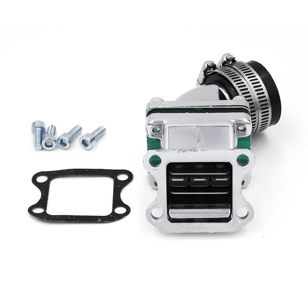 GOOFIT 32mm Intake Manifold Pipe Adapter Gasket Set for 2 Stroke Honda DIO 50 ZX SE50 SK50 SA50 Elite Scooter