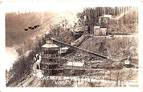 Concrete Mixing Equipment New mail order Norris Dam postcard Tennessee 2021 model