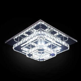 Goeco Plafoniera Lampada LED, Plafoniera Soffitto Cristallo Moderna integrati Lampada da Soffitto 36W 6000k per soggiorno ...