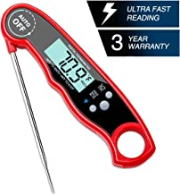 Instant Read Digital Food Thermometer with Bright Backlight LCD Screen, Kitchen Smart Waterproof Cooking Meat Thermometer By Bestmo