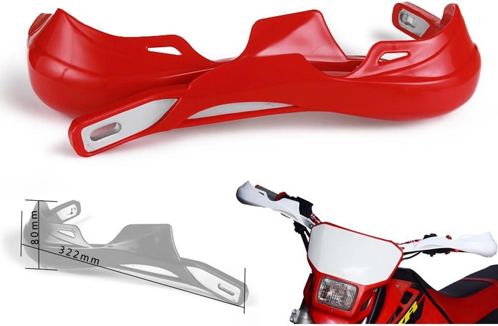 Supermoto y Dirtbike de 22 mm y 28 mm de pl/ástico PP Kawasaki para Todoterreno Yamaha KTM Motocicleta Protectores de Mano para Motocross Suzuki Honda