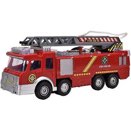 Tomaibaby Giocattolo per camion dei pompieri per bambini giocattolo per camion dei pompieri elettrico con luci per auto di camion di emergenza