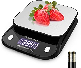 Nicewell Food Scale Digital Kitchen Scale 0.1g Accurate Weight Scale for Cooking, Baking, Tracking Intake, Max. 11 lbs / 5 kg