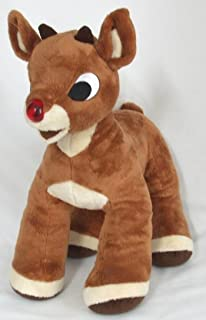 Build a Bear Rudolph Red Nosed Reindeer 15inch with Sounds and Lighted Nose