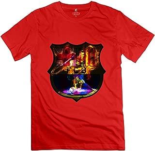 MAM2 Arts Cute Andres Messi FCB Logo Men's T-Shirt RoyalBlue