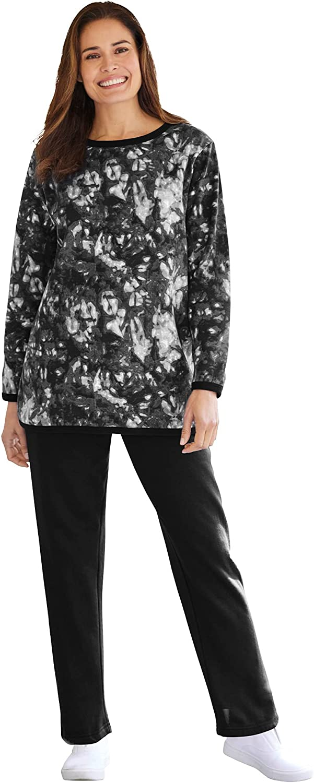 Woman Within Women's Plus Size Fleece Sweatsuit at  Women's Clothing store