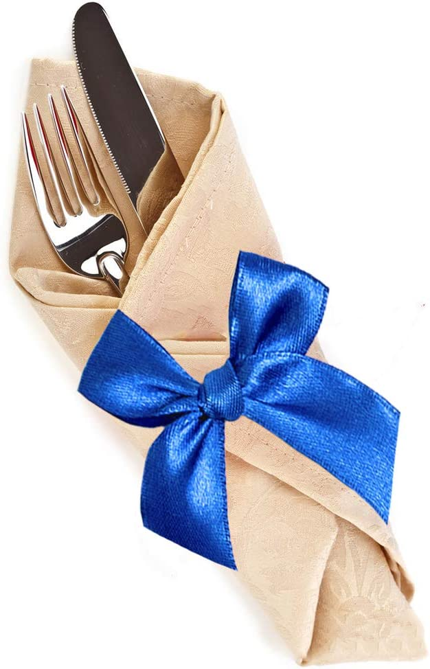 Gift Wrapping Wedding Party Decoration and More Ribbons Perfect for Crafts Hair Bows Solid Color Black Satin Ribbon 2//5 inch X 25 Yard