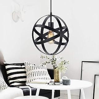 KingSo Industrial Metal Pendant Light, Spherical Pendant...