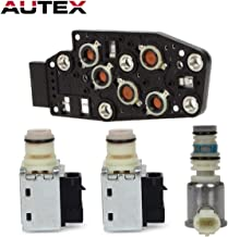 AUTEX 2Pcs Shift Solenoid & 1Pcs ON/Off CONN Solenoid & 1Pcs Manifold Pressure Switch Solenoid compatible with Buick Rainier/Cadillac Escalade/Chevrolet Tahoe/GMC/Isuzu/Oldsmobile/Pontiac/Saab