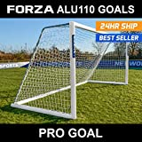 FORZA Alu110 Freestanding Football Goal (Choose Your Size 12ft x 4ft - 24ft x 8ft) Bring A Professional Touch To Training And Matchday With This Freestanding Aluminium Football Goal [Net World Sports]