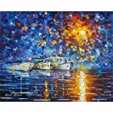 DIY 5D Diamond Painting for Adults,Barco Mar Full Drill Diamond Painting by Numbers Kits Large Embroidery Cross Stitch Rhinestone Diamond Art Crafts for Home Wall Decor Gifts-60x90cm/24x36in