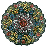 Ayennur Turkish Decorative Plates-7.08 Inch(18cm) Handmade Ceramic for Wall Hanging Home Decor
