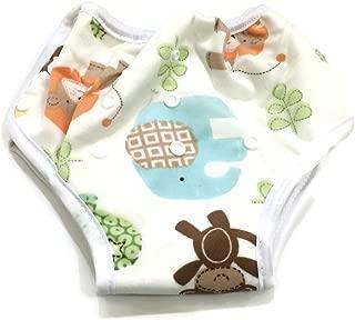 BB2 Adjustable Baby Toddler Potty Toilet Training Reusable Bamboo Pants (Adjustable, Zoo Animals)